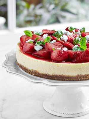 Strawberry goat cheese cheesecake - Tyler Florence