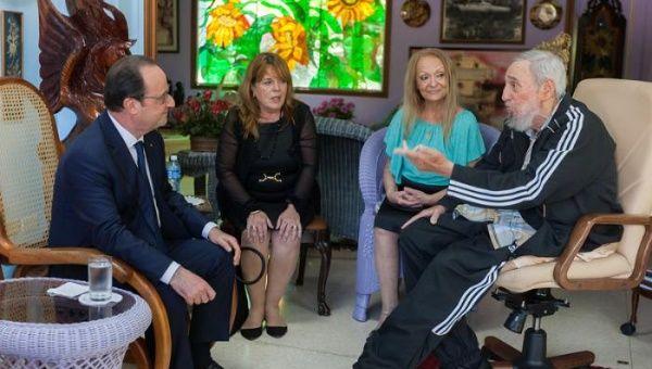 Visitó a Fidel el presidente de Francia. | Foto: Alex Castro / Granma