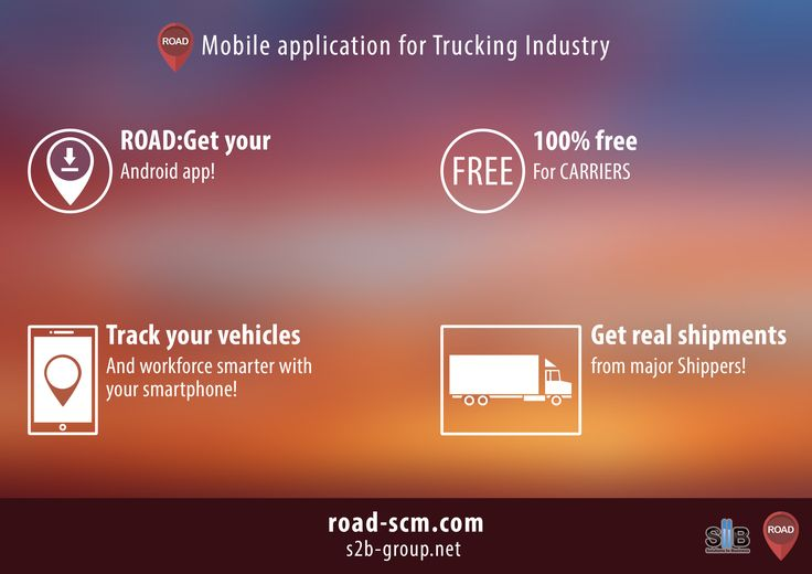 ROAD for Carriers: Mobile application to track vehicles and find shipments from major Shippers #logistics #supplychain #tms