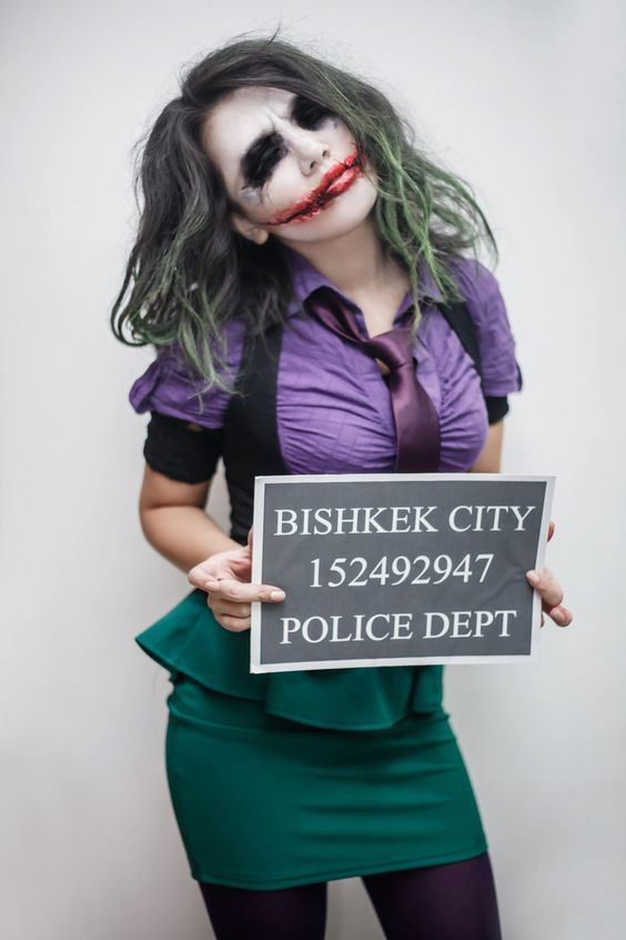 DIY Joker Halloween Costume Idea