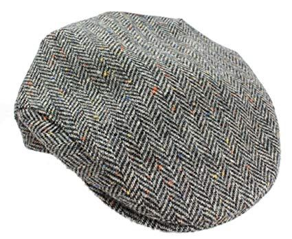 Mucros Mens Flat Irish Hat Grey Herringbone Wool Made in Ireland Review 333f2e7d282