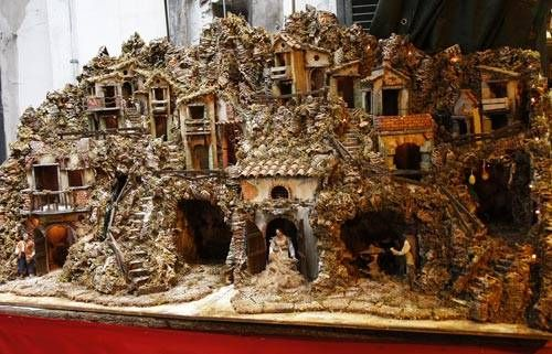 I want to go down this street in Naples. Not sure this nativity would fit in my suitcase.