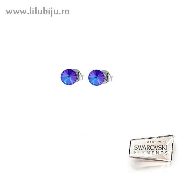 Cercei Swarovski Elements™- Rivoli Heliotrope. by LiluBiju