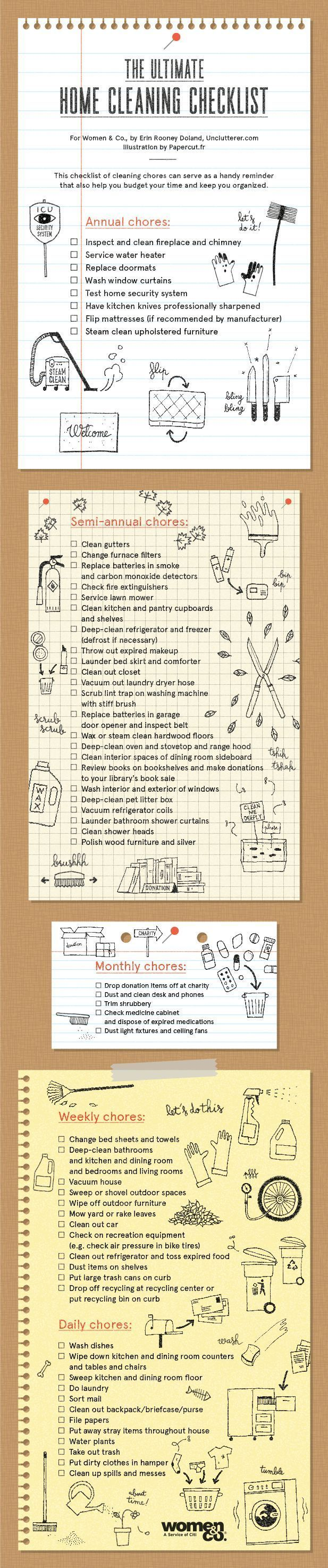 18 best cleaning checklist images on pinterest cleaning need this ultimate home cleaning checklist organizingyourhome clutterhelp fandeluxe Images