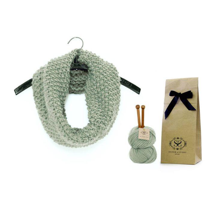 Classic Beginner Snood Knitting Kit