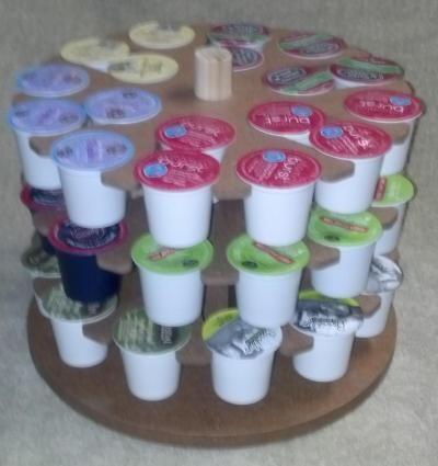 Awesome Keurig K-cup storage! Kupousel high capacity K-cup carousel!