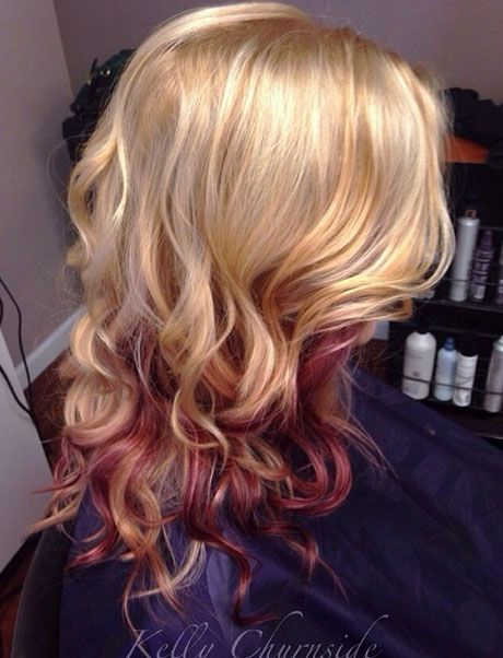 Cookie Blonde with Red Peekaboo's