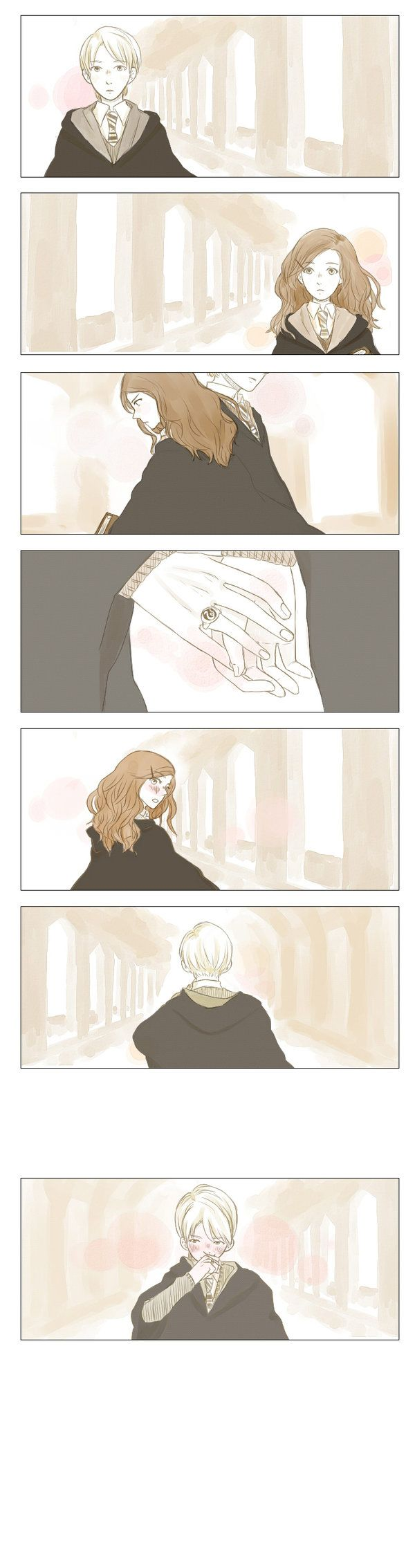 Draco Malfoy and Hermione. Dramione by TatarTaros on DeviantArt