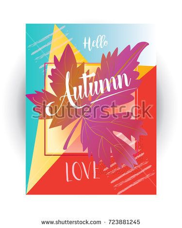Autumn sale text banner for October shopping promo or 50% autumnal shop discount. Vector maple leaf foliage gift card, abstract design of Sales poster leaflet, web banner, market coupon template.