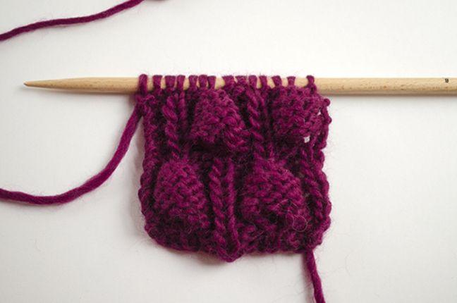 Comment tricoter le point noisette