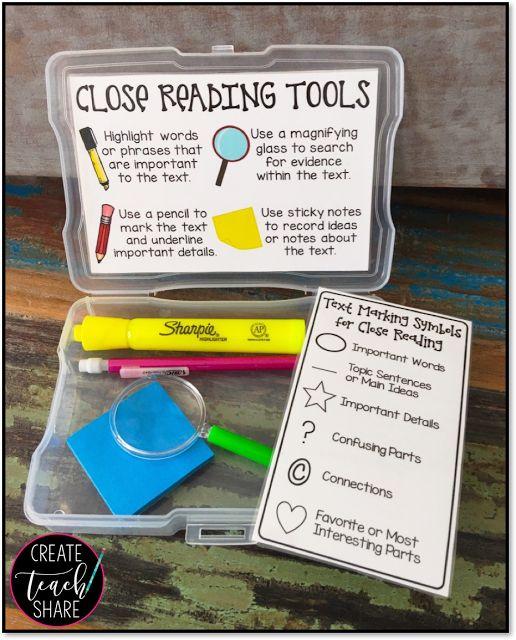 Close Reading Toolbox Freebie! | The TpT Blog
