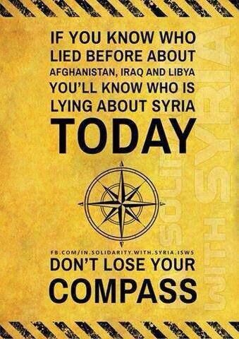 If you know who lied before about Afghanistan Iraq and Libya you'll know who is lying about Syria today | Anonymous ART of Revolution
