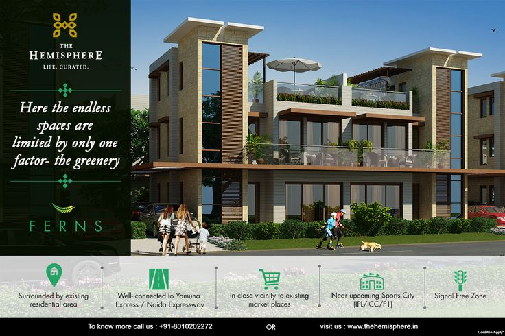 #TheHemisphere #Ferns #Villa Sec 27 Near #PariChowk 100 acres #township · 9 Hole Golf Course Near #Upcoming #SportsCity Connected to #YamunaExpressway To know more call: +91-8010202272 OR Visit: https://goo.gl/OsNptv