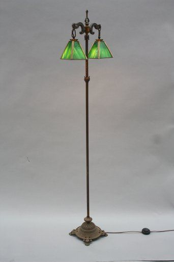 7592. Turn Of The Century Floor Lamp, Antique Floor Lamps, Antique and Spanish Revival Lighting: Sconces,Chandeliers etc. at Revival Antiques