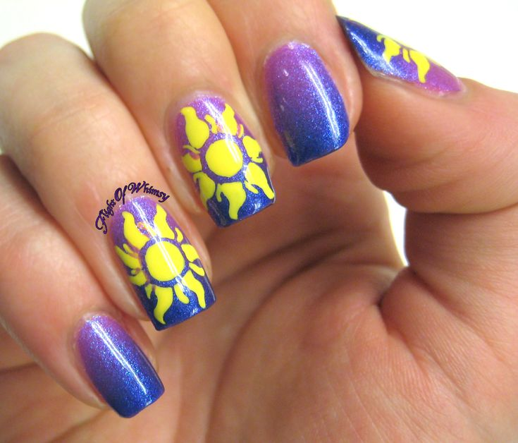 Rapunzel Nails: 1000+ Images About Disney Inspired Make-up, Hair & Nails