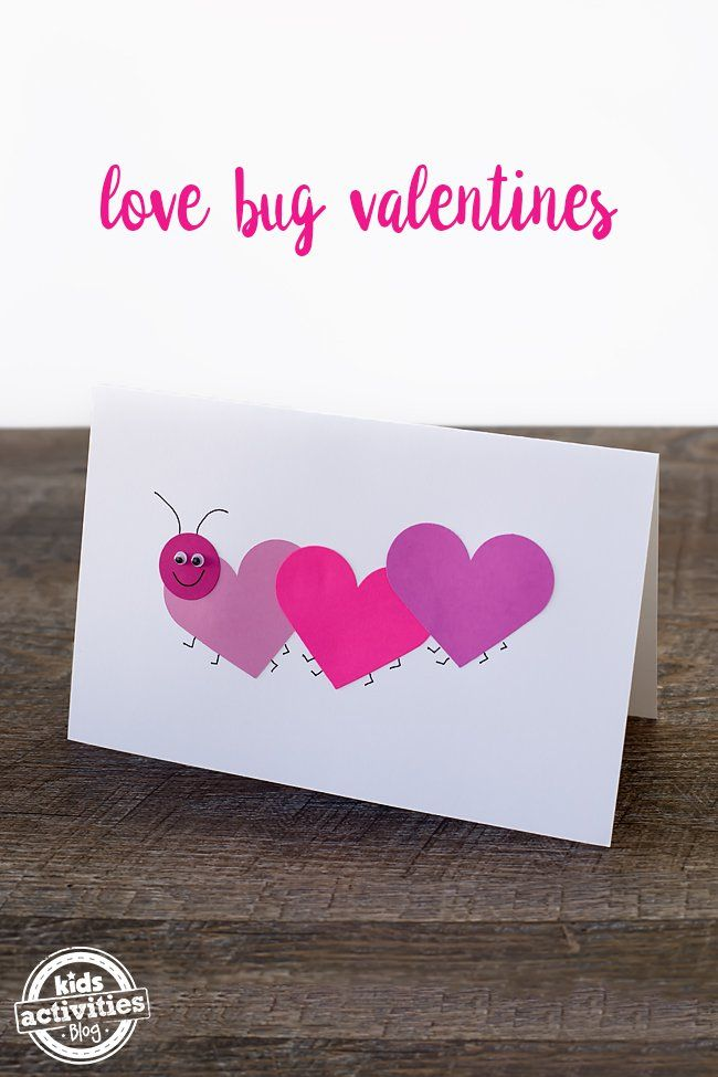 Super easy Valentine's day card for preschoolers! A love bug valentine!
