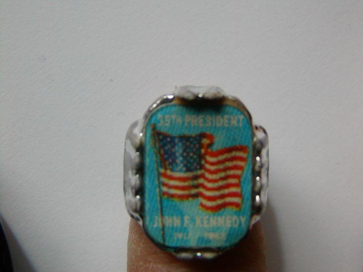 JFK KENNEDY 35TH PRESIDENT GUMBALL RING 1964  . | eBay!