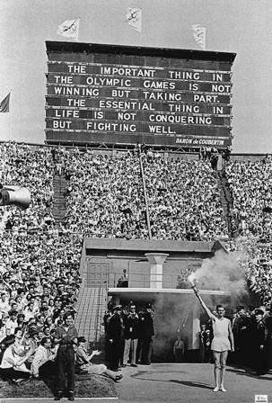 The opening ceremony at the London Olympics, 1948