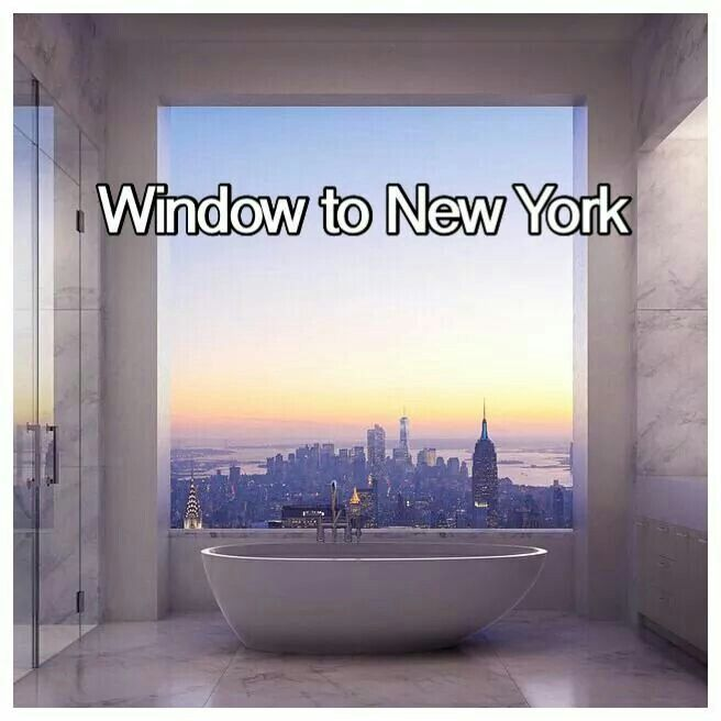 Look over new york city in a bath like this