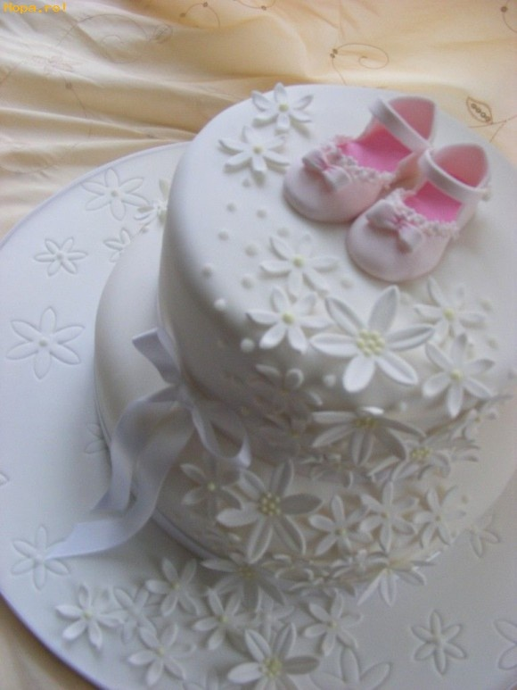 Christening Cake, Baby Shower, Take The Baby Shoes Off And Wedding Or  Bridal Shower Cake. Just Beautiful!