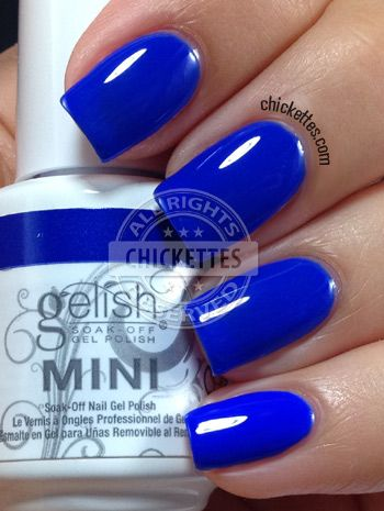 Chickettes.com Gelish Mali-Blue Me Away from the Gelish Colors of Paradise Collection #Gelish #gelpolish