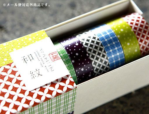 Japanese Masking Tape Package 和紋・弐/6巻入りパック(箱パッケージ) - マスキングテープ「mt」通販と卸は三宅商店