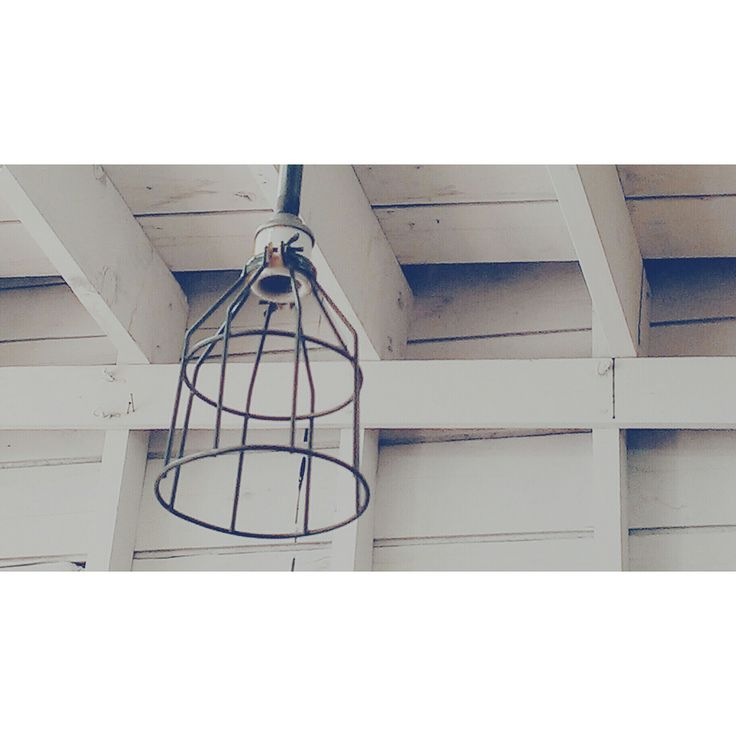 Industrial Cage Light ~ #industrial #cagelight #lighting #decor *JoJo's Place www.jojosplace.com