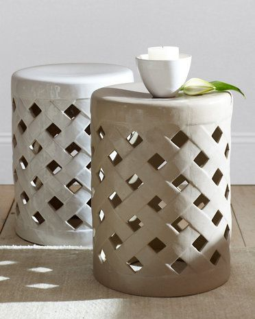 Nice Lattice Garden Stool. Also Like The Idea Of Using A Ceramic Garden Stool In  The