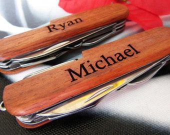 Valentine's Day Gift for Him Personalized Swiss by KnifeEngraving