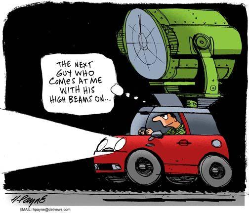 Car Humor: High beams