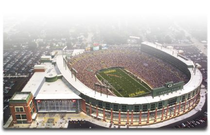The Gold Package including Green Bay Packers Tickets from the Green Bay Packers Official Tour Company, Packer Fan Tours!