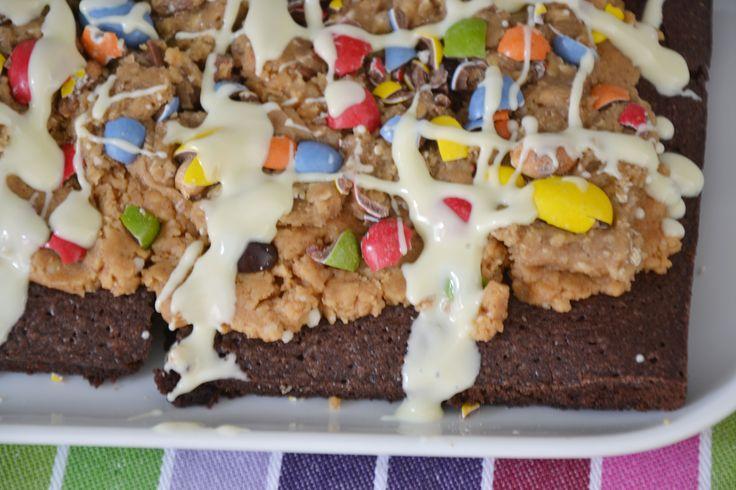Guilty Pleasure - Chocolate Chip Cookie Dough Pindakaas Brownies