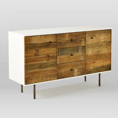 Buy west elm Reclaimed Wood and Lacquer Sideboard Online at johnlewis.com