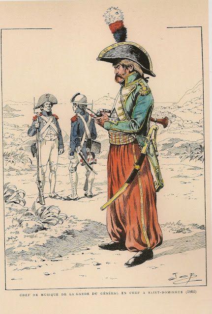 Chef de Musique, Commander in Chief's Guard Saint Domingue 1802 by JOB