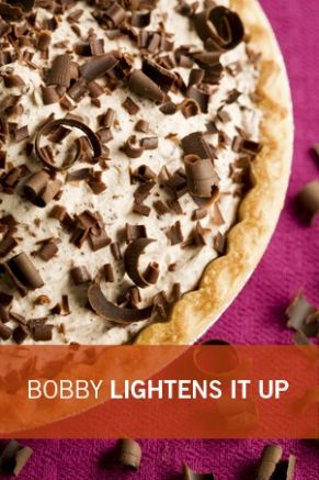 Bobby's Lighter Frozen Chocolate Mousse Pie from pauladeen.com I'm craving chocolate like mad lately, and this just looks ah-mazing, especially since it's served cold. It's been about a million degrees here in Korea!