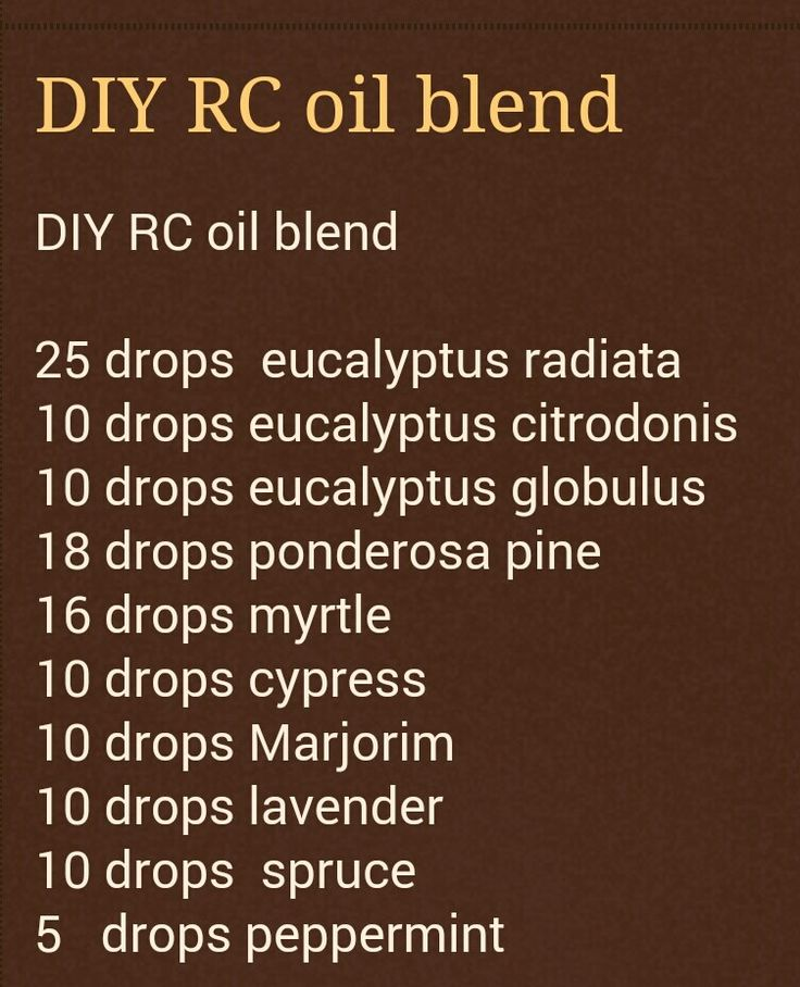 DIY RC essential oil blend EG doesnt have eucalyptus radiata, eucalyptus citrondonis, ponderosa pine or marjoim