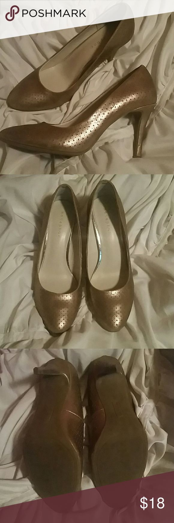 Gold Pumps Metaphor gold pumps. Gently used. Imperfections shown in pictures. Metaphor Shoes Heels