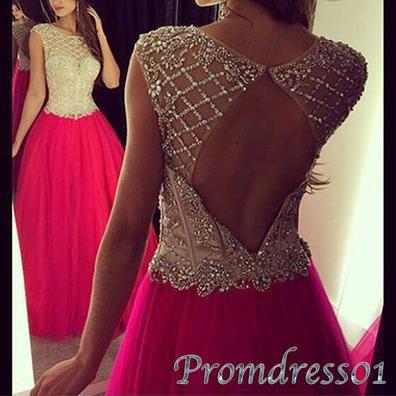 Purple poofy junior prom dress, prom dresses long, 2016 elegant handmade open back evening dress for teens