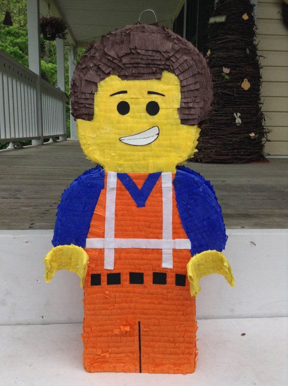 Emmit from The LEGO Movie Pinata Can be Personalized by LaAranita, $30.00