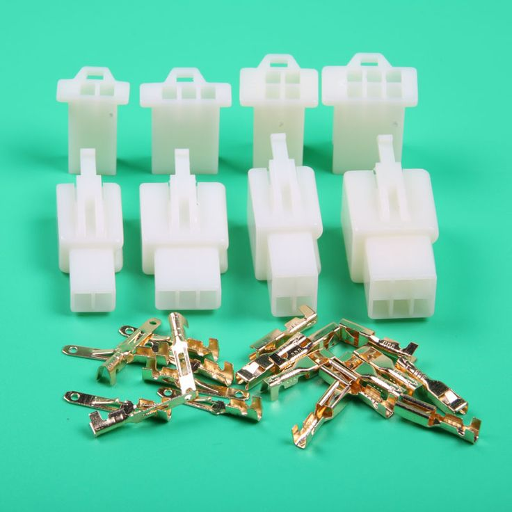 Quality 2.8mm Mini electrical wire Connector Kits 2 3 4 6 Way Motorbike Motorcycle Car Auto connector