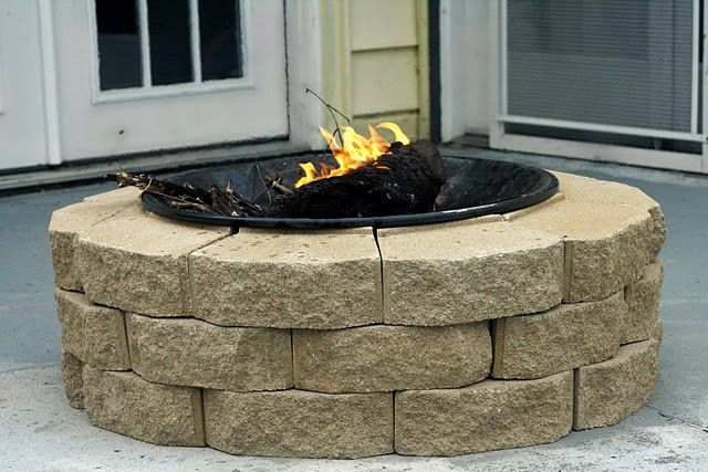 DIY firepit for $30Gardens Stones, Fire Pits, Ideas, Weekend Projects, Backyards Fire Pit, Back Yards, Outdoor Fire Pit, Diy Firepit, Back Patios