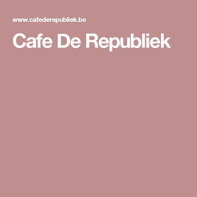 Cafe De Republiek