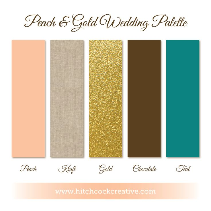 color palette peach and gold wedding