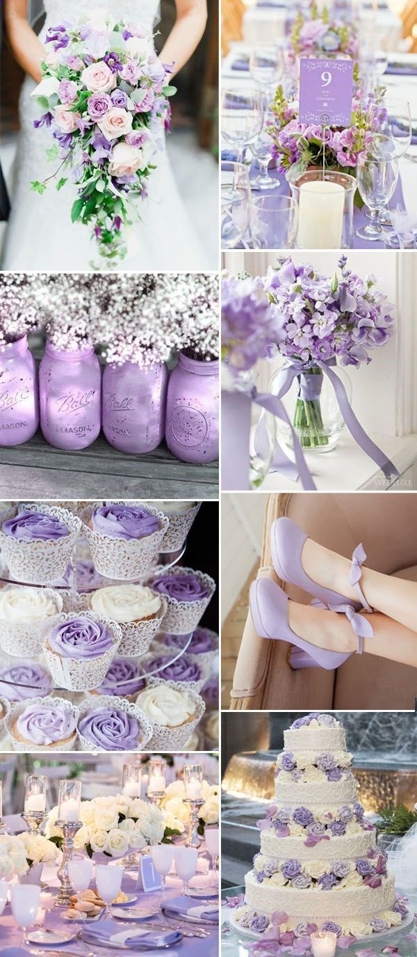 Hochzeitsideen nach Farbe: 36 Purple Wedding Color Ideas   – Wedding ❤️