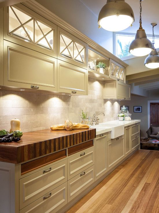 Under cabinet lighting, Kitchen designs, Kitchen decorating ideas - Burleigh Heads Hampton Style Kitchen