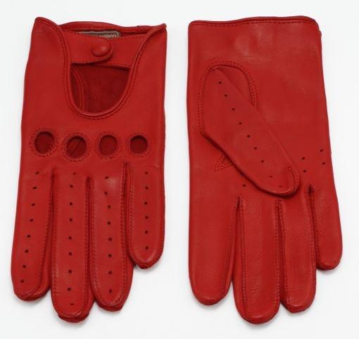 gants de conduite rouge en cuir d 39 agneau pour femme. Black Bedroom Furniture Sets. Home Design Ideas