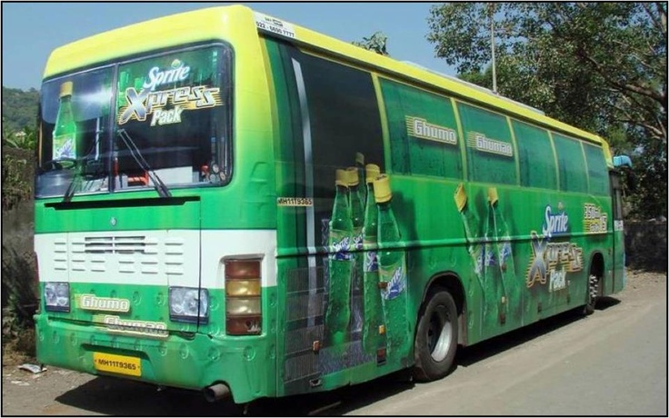 Another view of the Bus Wrap design for the launch of Sprite Xpress.