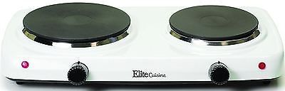 Portable Double Burner Electric Stove Camping And Grill Top 2 Cooktop Hot Plate