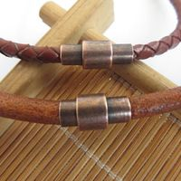 10 pcs Copper Antique Magnetic Clasp Strong Fit Covers 3mm / 4mm / 5mm Round Leather Cord Bracelet Necklace Making Jewelry Findings