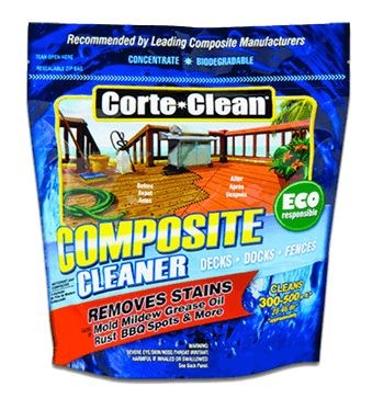 how to clean a composite deck with a power washer